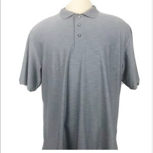 Kenneth Cole Mens Polo Button Down Gray XL